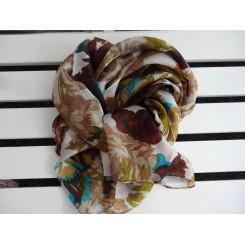 Silke tørklæde blomst