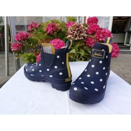 Blå gummistøvle m/ prik