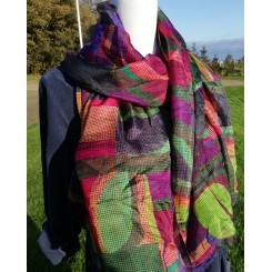 Stort og fyldigt silke tørklæde