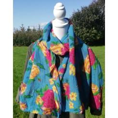 Frisk blå tørklæde i uld