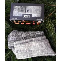 Uld sokker i gaveæske til ham