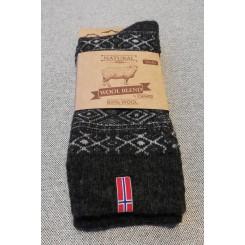 Uld sokker med norsk flag