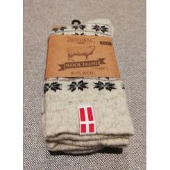 Sokker 80 % uld med flag
